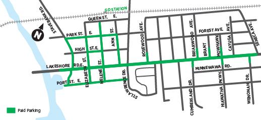 Port Credit parking map