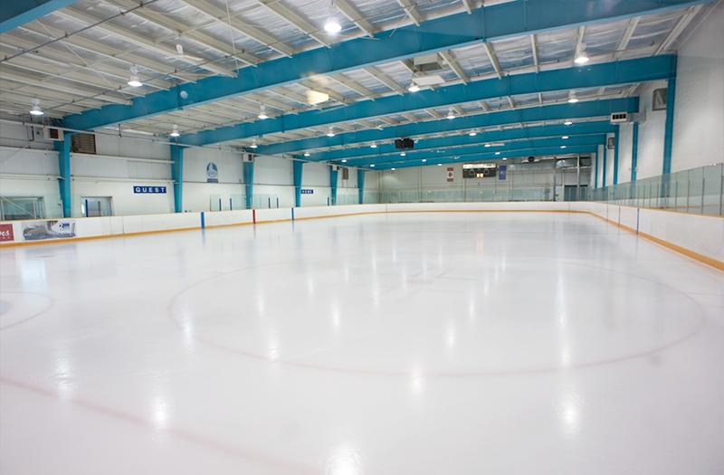 Indoor hockey rink