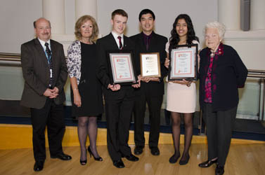 Student Ambassador 2012-13 Winners at City Council with Stephen Lewis Vice Principal, Transit Director, Ward Councillor and Mayor