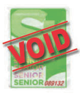 Senior Ticket
