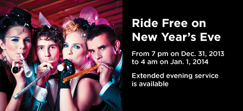 Ride Free News Year's Eve