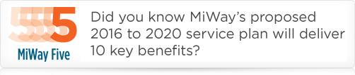 MiWay Five 10 Benefits