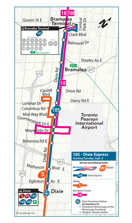 Mississauga Ca Miway Dixie Express