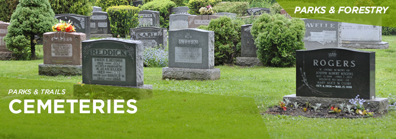 City of Mississauga Parks and Forestry - Cemeteries Locations