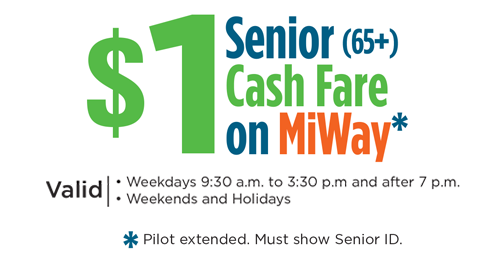 Senior $1 Cash Fare Pilot Extended