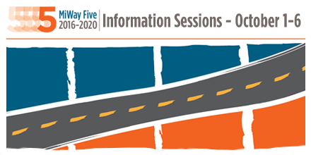 MiWay Five Information Sessions Oct 1 to 3