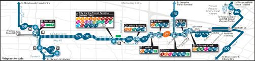 Mississauga Transitway Service Plan Phase 1 Map