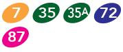 Etobicoke Creek MiLocal Routes 7,35,35a,72,87