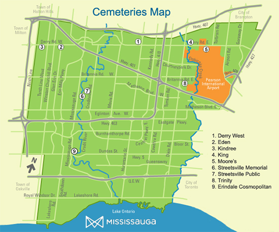 Cemeteries Map