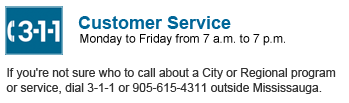 For Costumer Service Please call 311