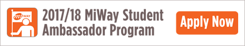 MiWay Student Ambassador Web Sign-in Banner