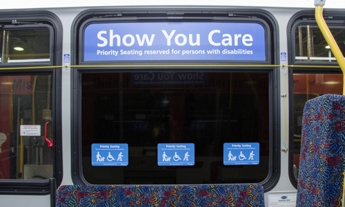 Priority Seating Bus Decals