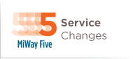 MiWay Service Changes