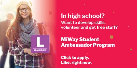 MiWay Student Ambassador Program apply like right now