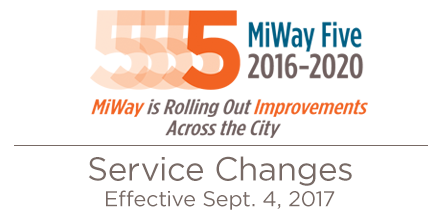 More information on MiWay Five Service Changes