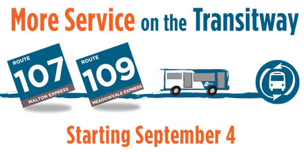 MiWay Service Promotion - Route 107 and 109