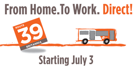 MiWay Route 39 Service Change