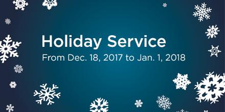 MiWay Holiday Season Adjusted Hours