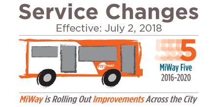 MiWay Service Changes Effective July 2nd
