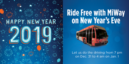 Ride Free New Years Eve