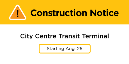 City Centre Transit Terminal Construction