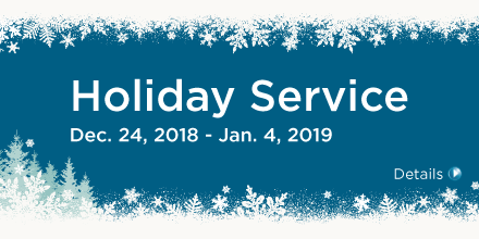 Service Changes - Holiday Service