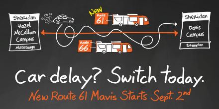 New Route 61 Mavis Starts Sept. 2