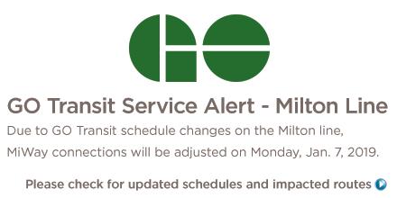 Service Changes - Milton Go Line