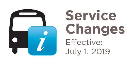 Service changes July 1